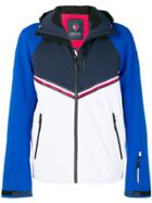 Rossignol Rossignol X Tommy Hilfiger Hooded Panelled Jacket - Blue