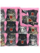 Gucci Tiger Face Print Shawl - Multicolour