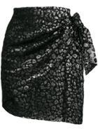 Iro Leopard Pattern Skirt - Black