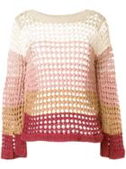 See By Chloé Gradient Open Knit Sweater - Multicolour