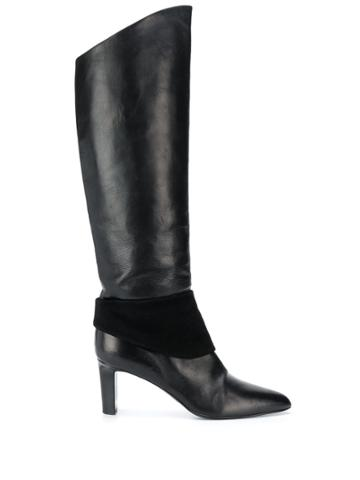 Helmut Lang Pre-owned 1990s Panel Detail Knee-length Boots - Black