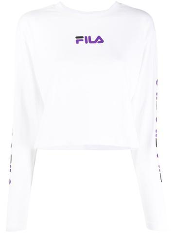 Fila Logo Crop Top - White