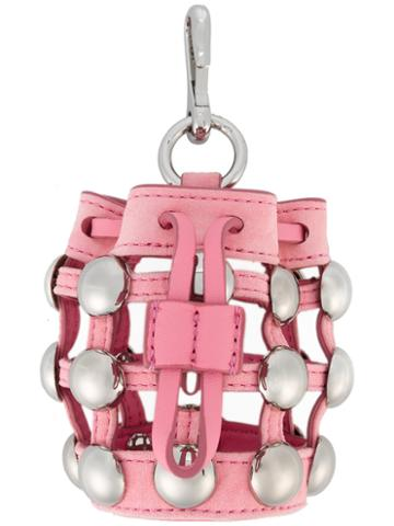 Alexander Wang - Mini Roxy Charm - Women - Leather/metal - One Size, Women's, Pink/purple, Leather/metal