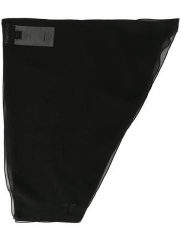 Tom Ford Head Wrap Scarf - Black