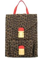 Fendi Vintage Leopard Print Backpack - Brown