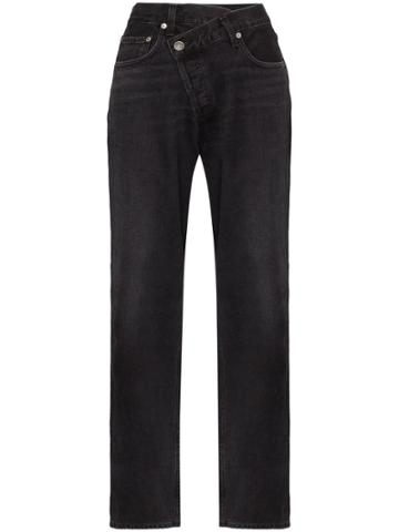 Agolde Criss-cross Wide Leg Jeans - Black