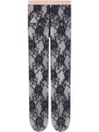 Gucci Floral Lace Tights - Black
