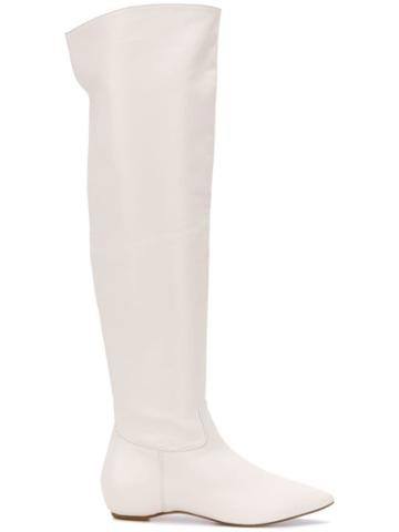 The Seller High Flat Boots - White
