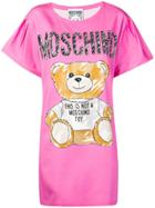 Moschino Brushstroke Teddy Bear Dress - Pink