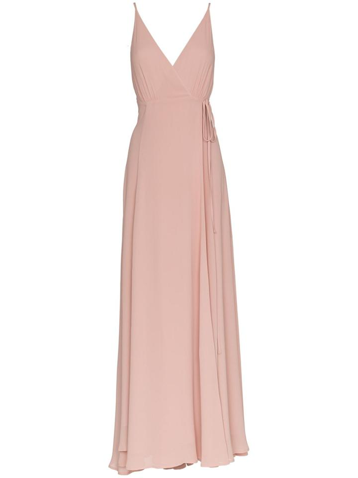 Reformation Callalilly Vneck Maxi Dress - Pink & Purple