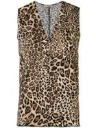 Blanca Leopard Print Blouse - Brown