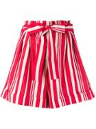 Chinti & Parker Striped Shorts - Red