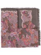 Hemisphere Paisley Scarf - Brown
