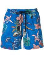 Etro Floral Swim Shorts - Blue