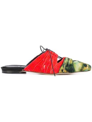 Rosie Assoulin Patchwork Sliders - Red