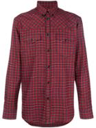 Givenchy Checked Buttondown Shirt - Red