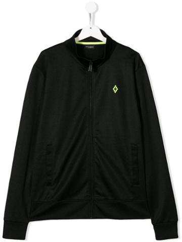 Marcelo Burlon County Of Milan Kids Teen Small Logo Zipped Jacket -