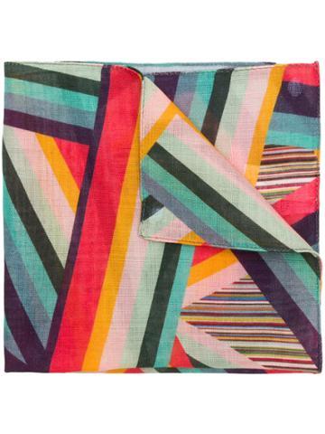 Paul Smith Striped Pocket Square - Multicolour
