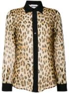 Moschino Leopard Print Shirt - Brown