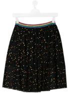 Stella Mccartney Kids Polka Dot Tulle Skirt - Black