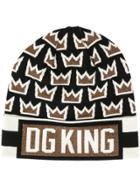 Dolce & Gabbana Dg King Crown Intarsia Beanie - Multicolour