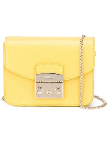 Furla Buckled Cross Body Bag, Women's, Yellow/orange, Calf Leather