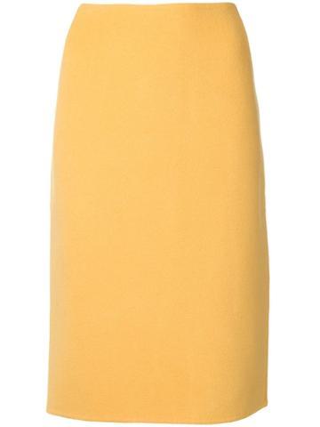 Versace Vintage 1980 Pencil Skirt - Yellow