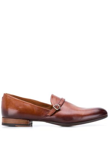 Pantanetti Buckle Detail Loafers - Brown
