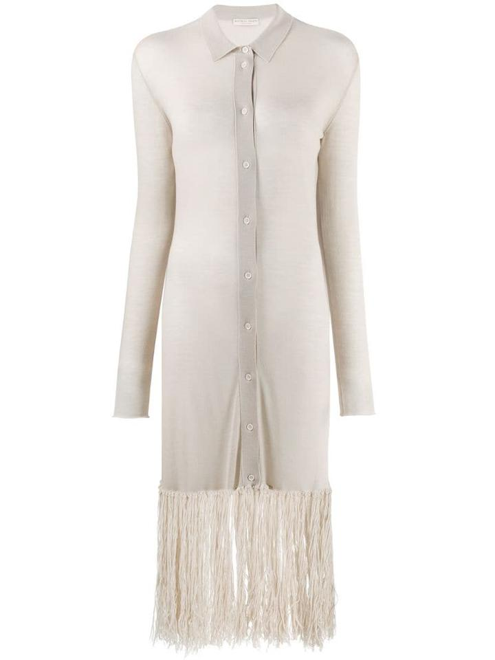 Bottega Veneta Fringed Shirt Dress - Neutrals