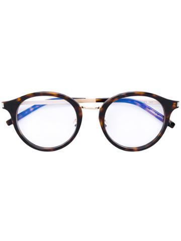Saint Laurent - Round Frame Glasses - Unisex - Acetate - One Size, Brown, Acetate