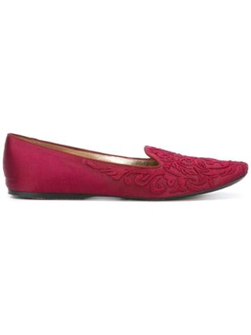 Giorgio Armani Pre-owned Embossed Ballerina Pumps - Red
