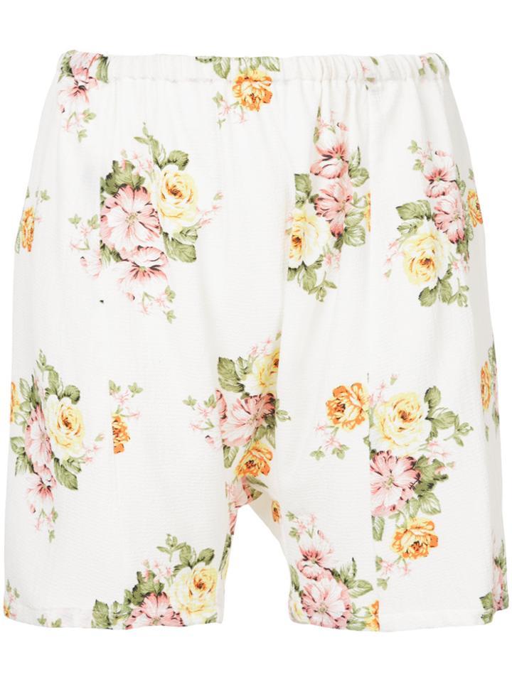 Zambesi Floral Print Shorts - White