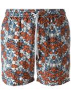 Capricode Floral Print Swim Shorts - Multicolour