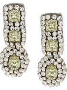 Moschino Crystal Embellished Earrings - Yellow