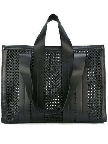 Corto Moltedo Costanza Beach Club Tote Bag, Women's, Black, Calf Leather/leather