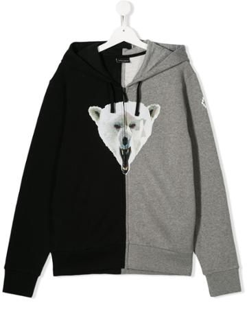 Marcelo Burlon County Of Milan Kids Bear Print Jacket - Black