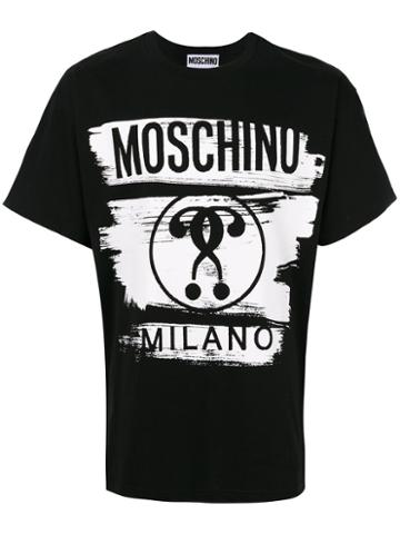 Moschino - Brush Stroke Print T-shirt - Men - Cotton - 52, Black, Cotton