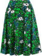 Balenciaga - Printed Flared Skirt - Women - Polyamide/spandex/elastane - 40, Women's, Green, Polyamide/spandex/elastane