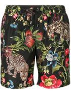Dolce & Gabbana Floral Print Swim Shorts - Black