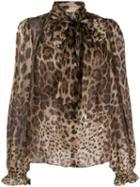 Dolce & Gabbana Animal Print Blouse - Brown