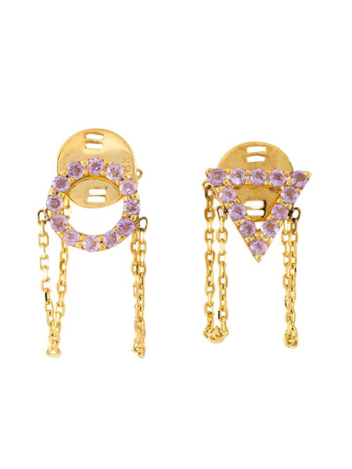 Gisele For Eshvi 'october' Earrings, Women's, Metallic