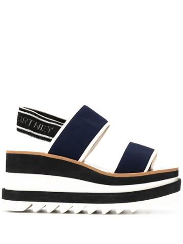 Stella Mccartney Elyse Slingback Platform Sandals - Blue