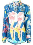 Agnona Floral Print Shirt - Blue