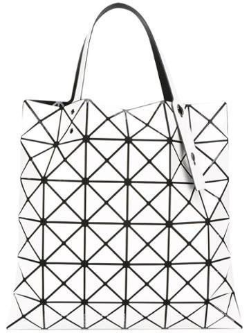 Bao Bao Issey Miyake Triangles Tote Bag, Women's, White, Polyester