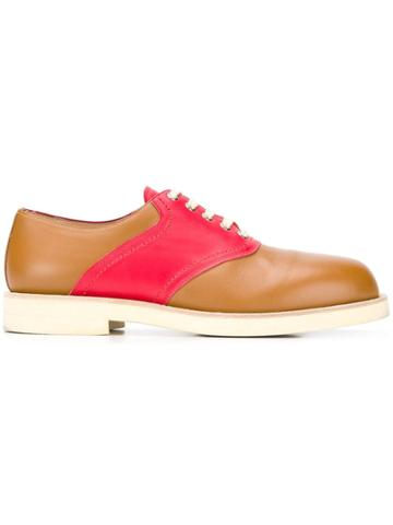 Marni Colour Block Oxford Shoes - Brown