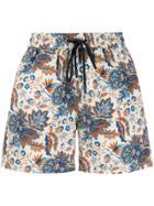 Etro Floral Swim Shorts - White