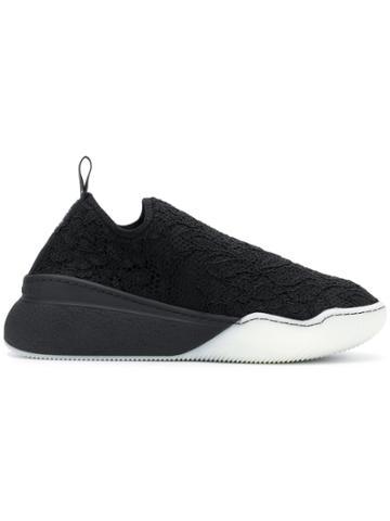 Stella Mccartney Top Lace Designed Sneakers - Black