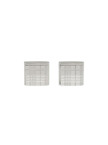 Burberry Check-engraved Cufflinks - Silver