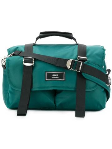 Ami Alexandre Mattiussi Mini Messenger Bag - Green