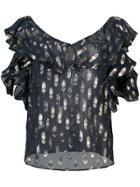 Twin-set Sheer Long Sleeved Hoodie - Black